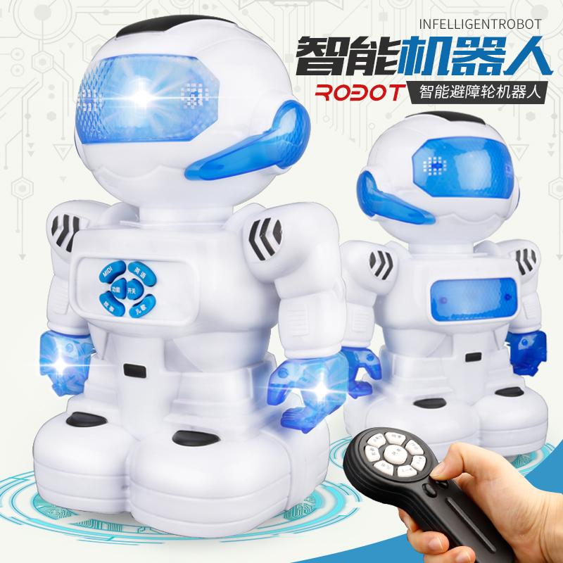 阿尔法可动机器人玩具机械跳舞电动宇宙战警小胖充电男孩子儿童E4