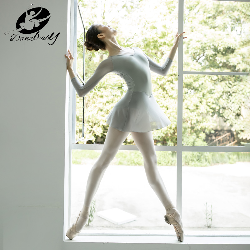 danzbaby网纱体操服成人女形体服舞蹈服芭蕾舞练功服形体衣DZ55