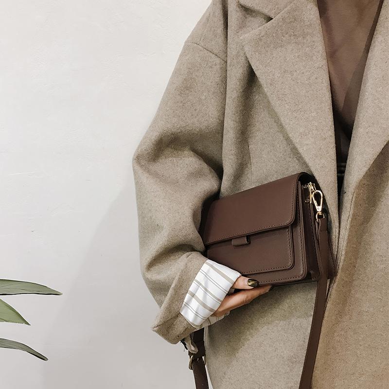 冬季包包女2019新款潮时尚复古小方包百搭高级感洋气单肩包斜挎包