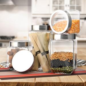 厨房用品透明玻璃收纳罐储物罐茶叶玻璃瓶密封防潮干果杂粮食品罐