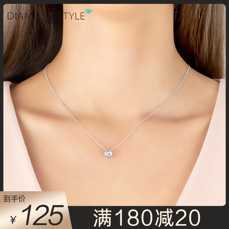 Diamond style Swarovski Crystal Necklace and clavicle chain design is small, sweet, versatile and simple