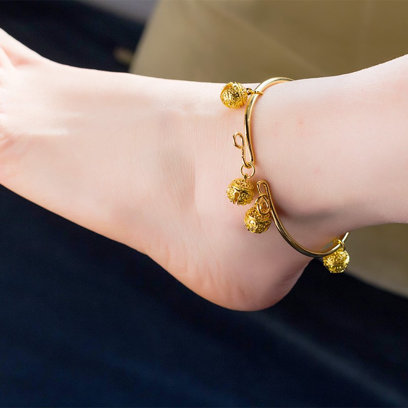 Ancient Han style palace bell Nie Xiaoqians ankle bracelet bell Bracelet tiger head bell Antique Chinese style court boudoir jewelry