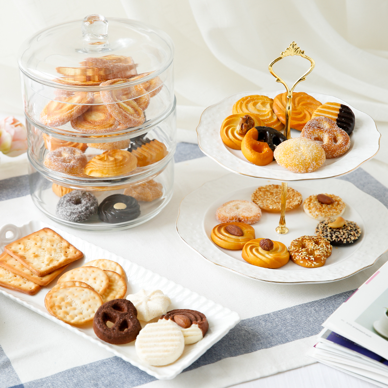 台湾仿真饼干高档仿真食品模型假糕点橱窗展示道具假松饼曲奇饼干