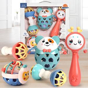 知贝婴儿玩具0-1岁6-9-12个月8新生儿宝宝益智抓握摇铃初生儿礼盒