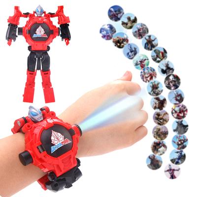 奥特曼赛罗变形儿童电子手表泰罗玩具学生投影卡通变身机器人男孩