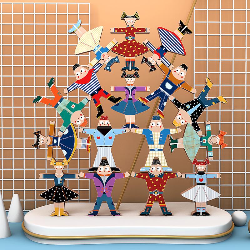 (过期)淘乐玩具专营店 木制叠叠乐大力士儿童平衡益智积木 券后16.9元包邮