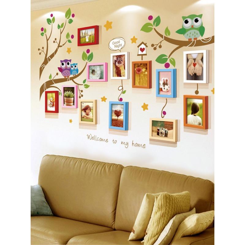 7寸相框挂墙组合客厅卧室个性创意装饰自粘贴墙儿童照片墙相框墙