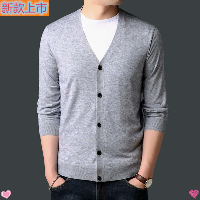 High grade genuine new mens sweater spring autumn young mens sweater leisure fashion thin cardigan long