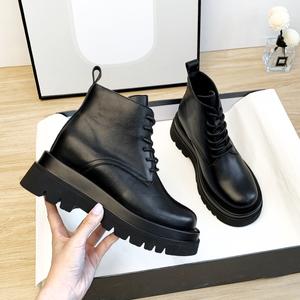 2020夏季新款百搭内增高马丁靴女鞋