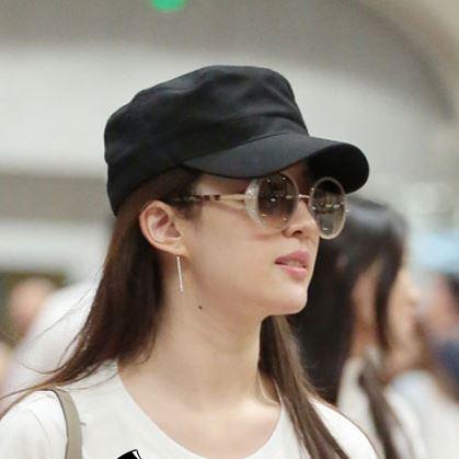 28.00元包邮高端立挺有型黑色平顶帽 韩版小头围小号军帽 鸭舌帽 男女遮阳帽