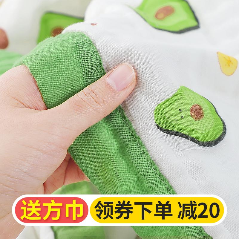 纯棉纱布被子新生初生儿洗澡大毛巾
