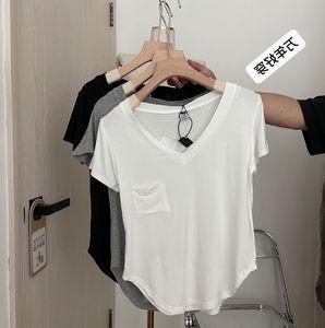 短款t恤垂坠感锁骨夏季韩版打底衫