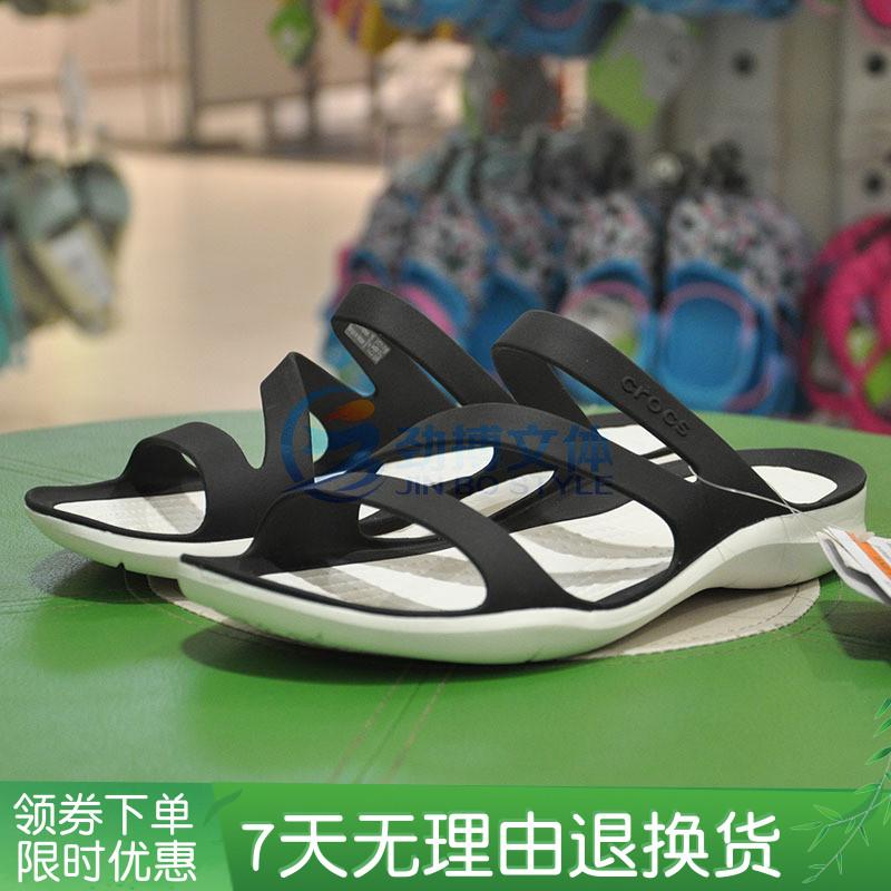 延續新品Crocs卡洛馳夏季女士激浪涼鞋涉水沙灘洞洞鞋203998