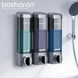 酒店宾馆浴室壁挂式三头皂液器家用洗发水沐浴露护发素洗手液按压
