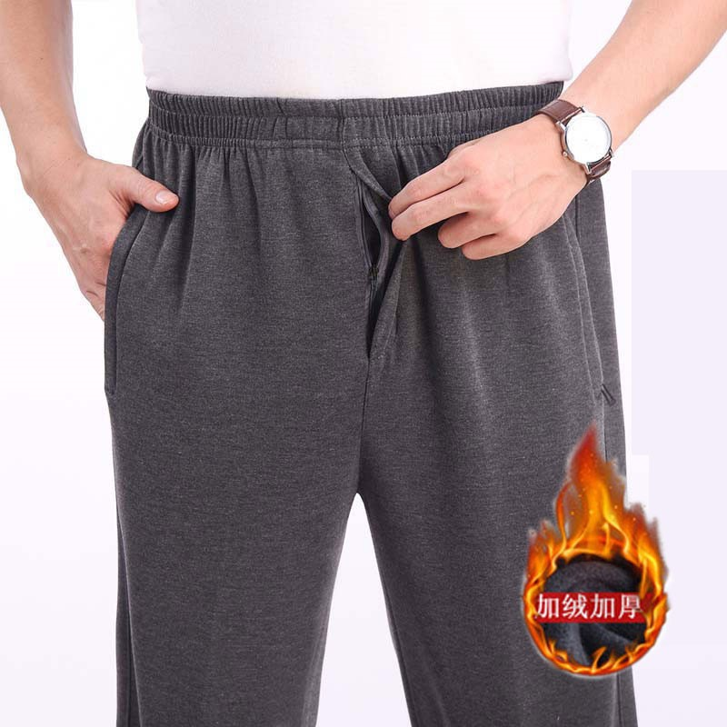 Autumn middle-aged dad clothes 30 middle-aged and elderly people 40 years old 50 loose autumn pants mens autumn pants outer pants winter clothes