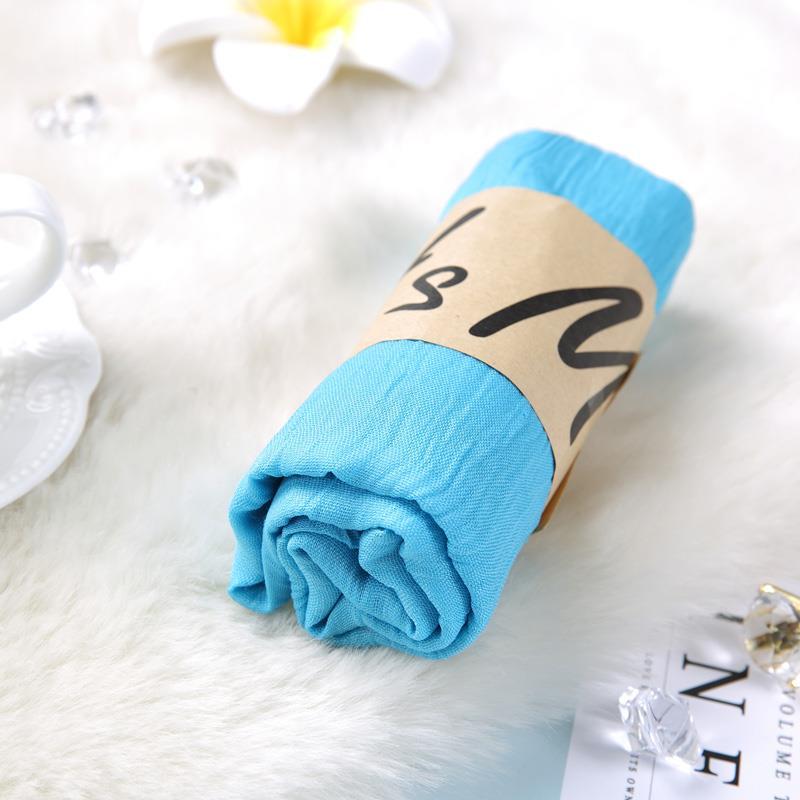 棉麻围巾女秋冬季长款韩版百搭纱巾学生披肩两用女士纯色亚麻丝巾