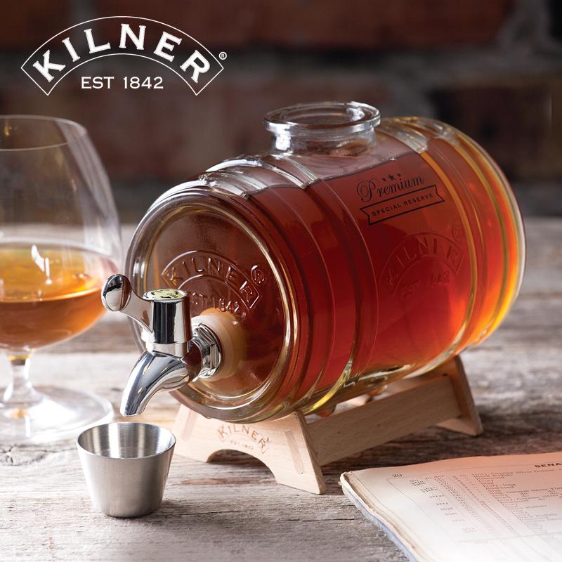 英國Kilner泡酒罐玻璃罐帶龍頭家用泡酒密封罐飲料桶歐式復古酒桶