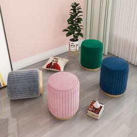 化妆凳北欧梳妆台凳子轻奢椅子卧室沙发换鞋时尚客厅网红圆凳布艺
