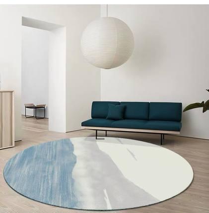 简约北欧圆形现代家用客厅茶几地毯