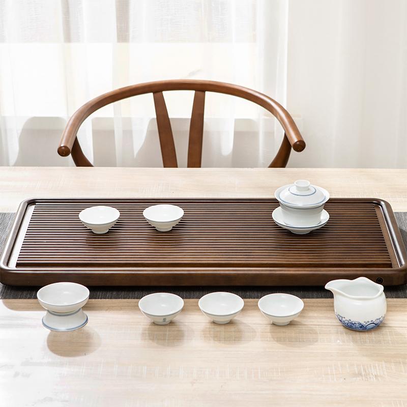 简约家用实木排水式功夫茶具茶盘