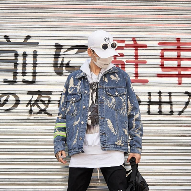 情侶裝 秋冬新款國潮寬松高品質青少年牛仔衫男 原創潮牌夾克外套