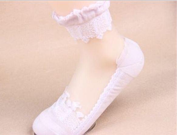 袜子女短袜蕾丝花边袜子可爱纯棉中筒袜水晶玻璃丝袜棉底丝袜Yerr,可领取元淘宝优惠券