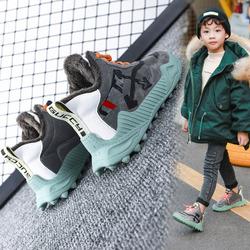 男童棉鞋2020新款秋冬款男孩加绒加厚中大童二棉鞋冬季潮儿童鞋子