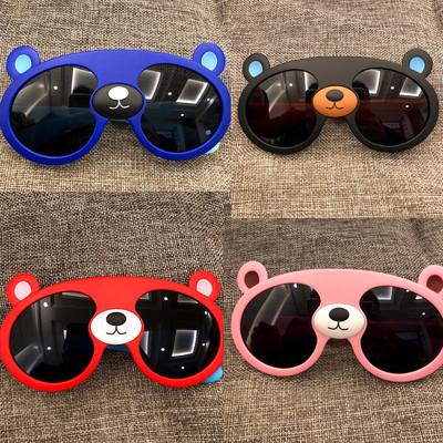 儿童眼镜熊大熊猫墨镜熊出没男女童偏光太阳镜硅胶时尚防紫外线