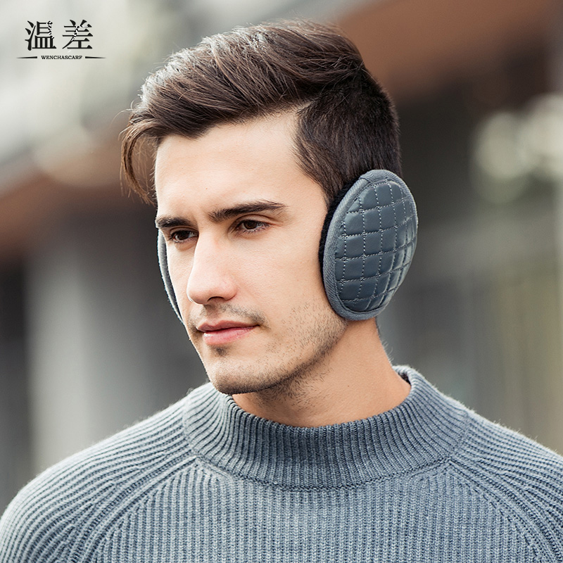 Temperature difference earmuffs keep warm mens winter earmuffs earmuffs wear mens ears after Pu in winter