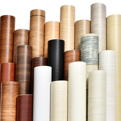 20米木纹pvc壁纸墙纸自粘衣柜旧桌面橱柜子贴门仿木家具翻新贴纸