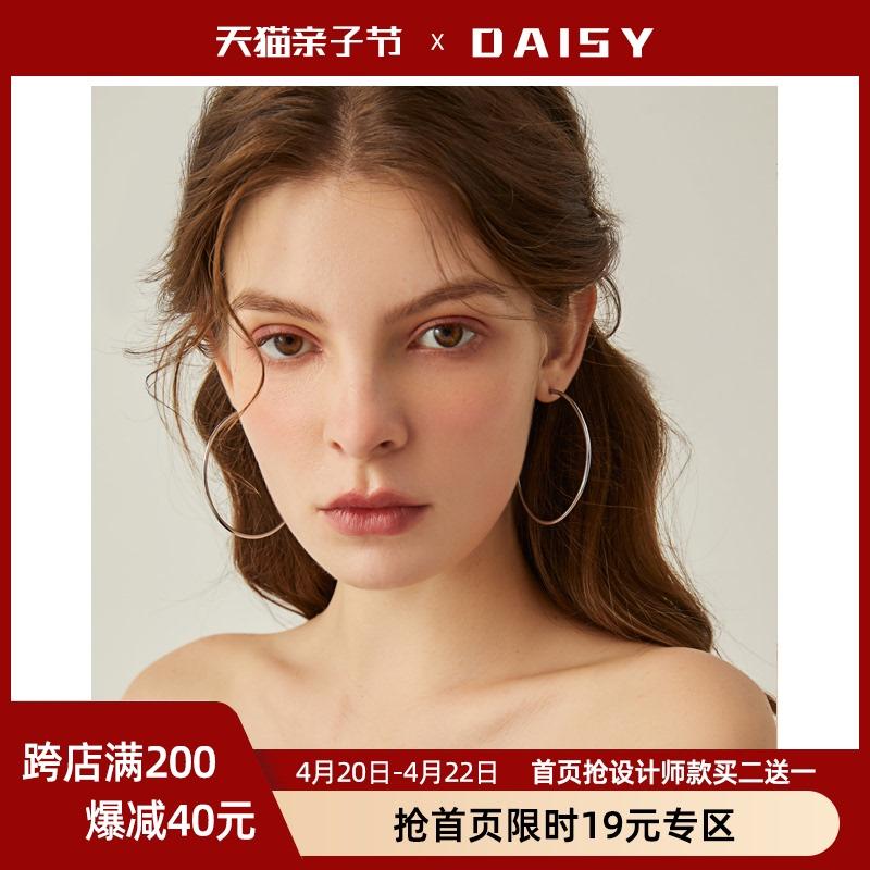 韩国耳圈大圆圈耳环女2021年新款潮气质圈圈款圆环形欧美夸张耳饰