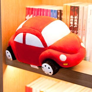 小汽车毛绒玩具仿真公仔布娃娃可爱抱枕头儿童大号生日礼物女男孩