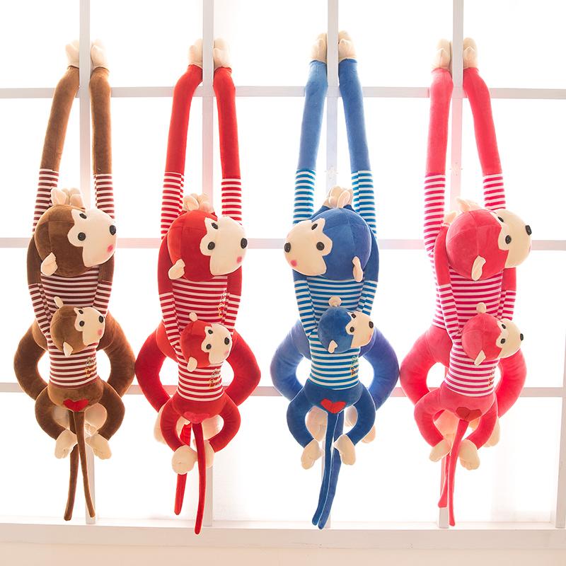 创意毛绒玩具长臂趴趴猴子公仔布娃娃玩偶小吊猴可爱儿童抱枕女孩