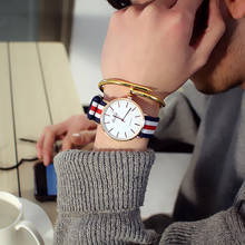 新款手表學生男女韓版簡約石英表韓國時尚潮流2018國產情侶腕表男