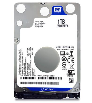 WD/西部数据 WD10SPZX 蓝盘 1TB 2.5寸笔记本电脑机械硬盘 1T