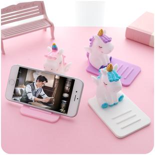 女生可爱个性 创意新款 手机懒人支架独角兽款 桌面床头少女心便携小型迷你随身苹果x追剧神器7可调节8支撑架子