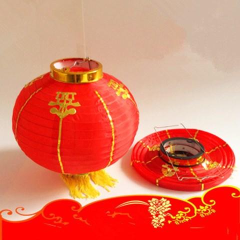 (2只价格)日韩式舞蹈道具金边全红圆灯笼酒店商场国庆节庆装饰