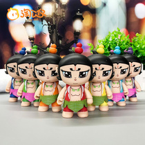 Amoy Anime King Kong gourd Baby toy gourd brother hand Office baby car decoration interior doll model