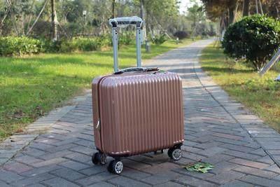 18寸迷你行李箱女韩版小型16拉杆箱商务登机男横款箱子20旅行皮箱