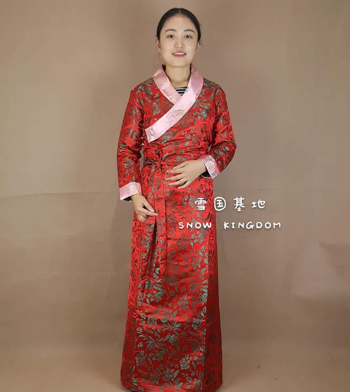 苏拉克夏西藏女款西藏服民族风藏式服装西式藏装演出锅庄表演礼服