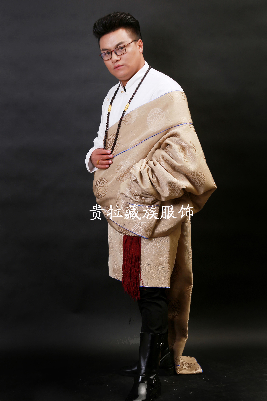 苏拉克夏西藏藏族服装品新款男装内加绒冬装男士藏袍
