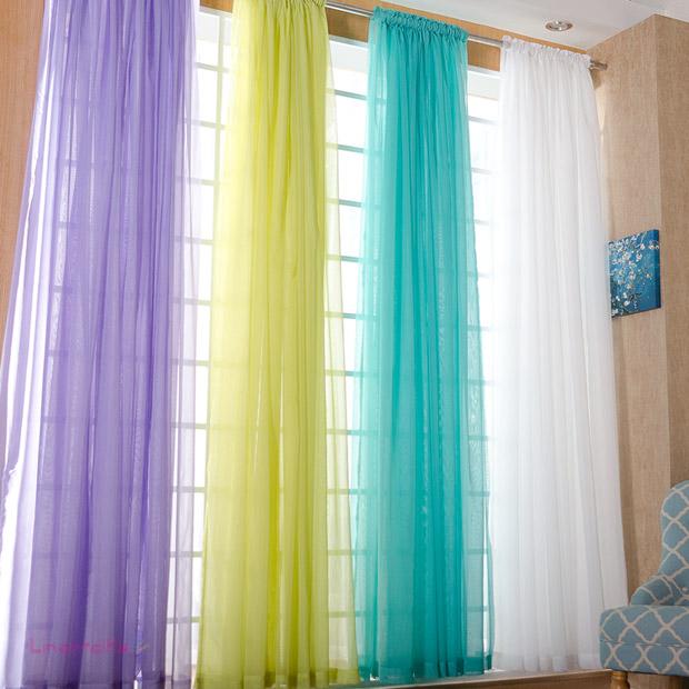 高档简约纯色纱帘窗纱透光窗帘床幔客厅阳台飘窗成品定制特价清仓