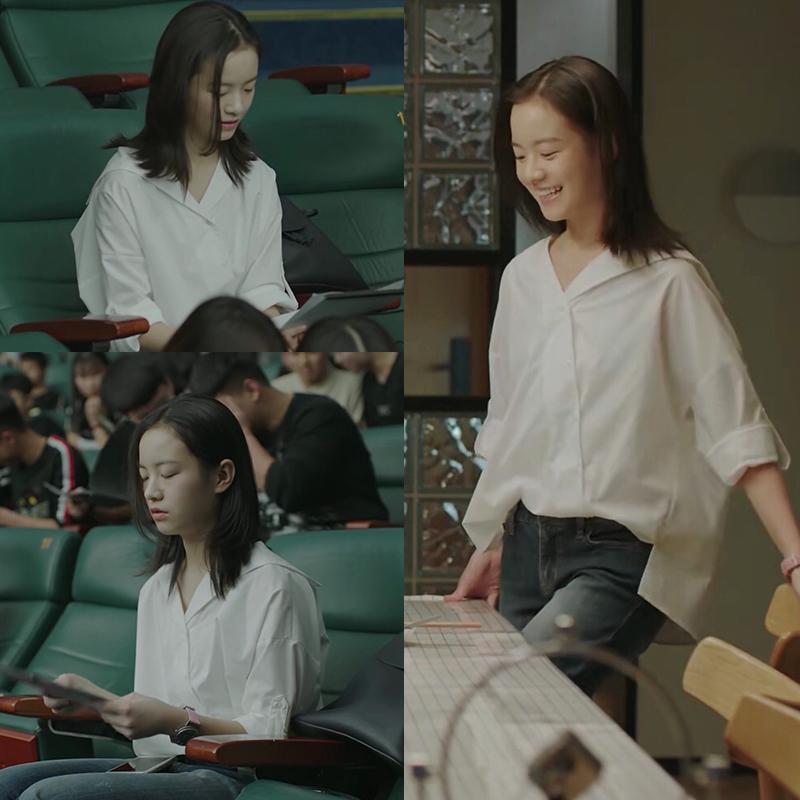 小欢喜乔英子同款衬衫衣2019新款秋装韩版宽松雪纺洋气白色衬衫女