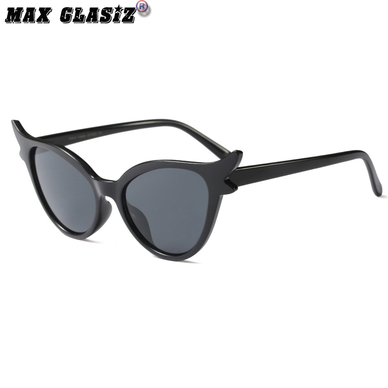 European and American retro street photography womens Sunglasses butterfly cat female Sunglasses cat ears butterfly glasses concave outdoor