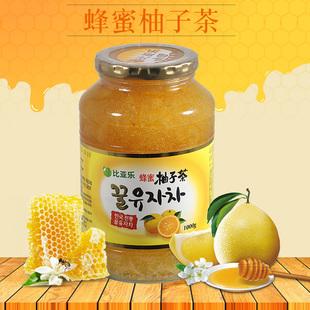 旗舰品质比亚乐蜂蜜柚子茶1公斤韩国原装进口水果茶 冲调饮品果汁品牌