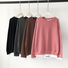 Women's new fall jacket sleeves loose sweater sweater fake two sweater season sweater sweater sweater sweater