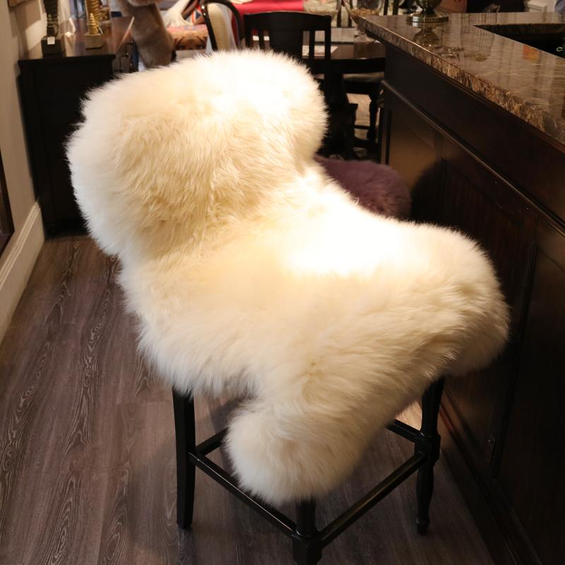 整张澳洲纯羊毛沙发垫羊毛地毯简美冬季椅垫飘窗垫床边毯北欧坐垫