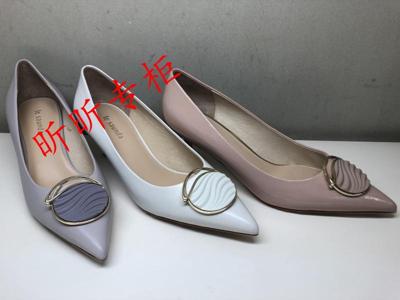 Le saunda莱尔斯丹女鞋国内代购2021春款细中跟浅口单鞋女2M49707