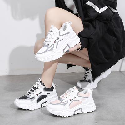 寄冬小白鞋女鞋2021春秋季新款透气老爹运动休闲潮鞋百搭学生鞋子