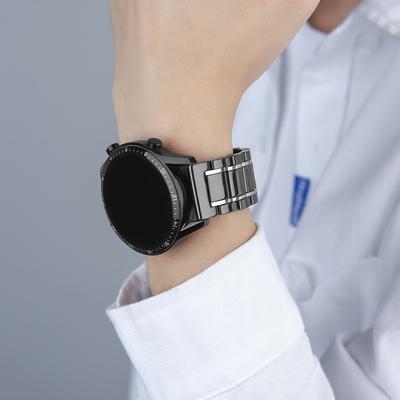 适用华为手表GT/GT2表带智能2Pro保时捷陶瓷2e尊享金属GS荣耀Magic46mm替换watch2 pro钛金灰ECG钢带ES原装B5